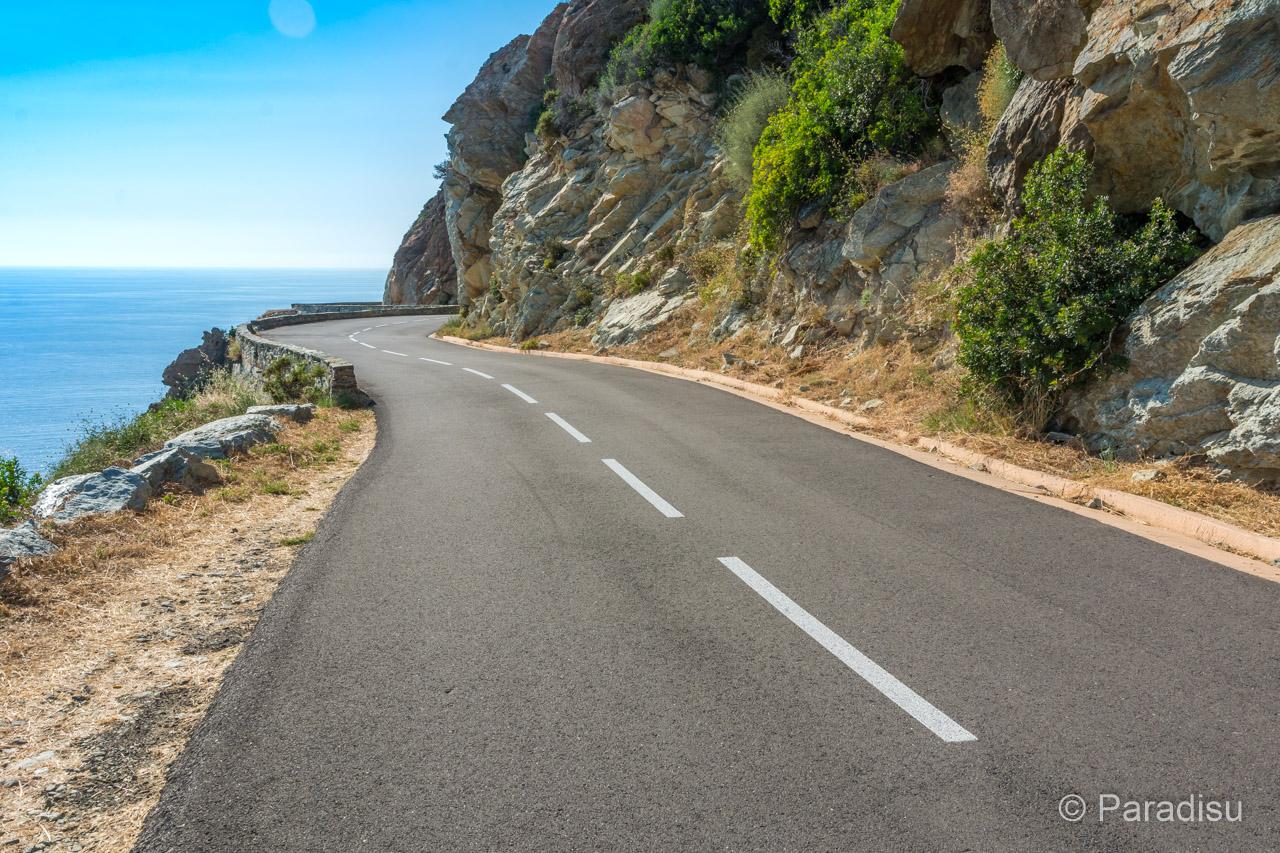 Strasse Am Cap Corse (Westküste)