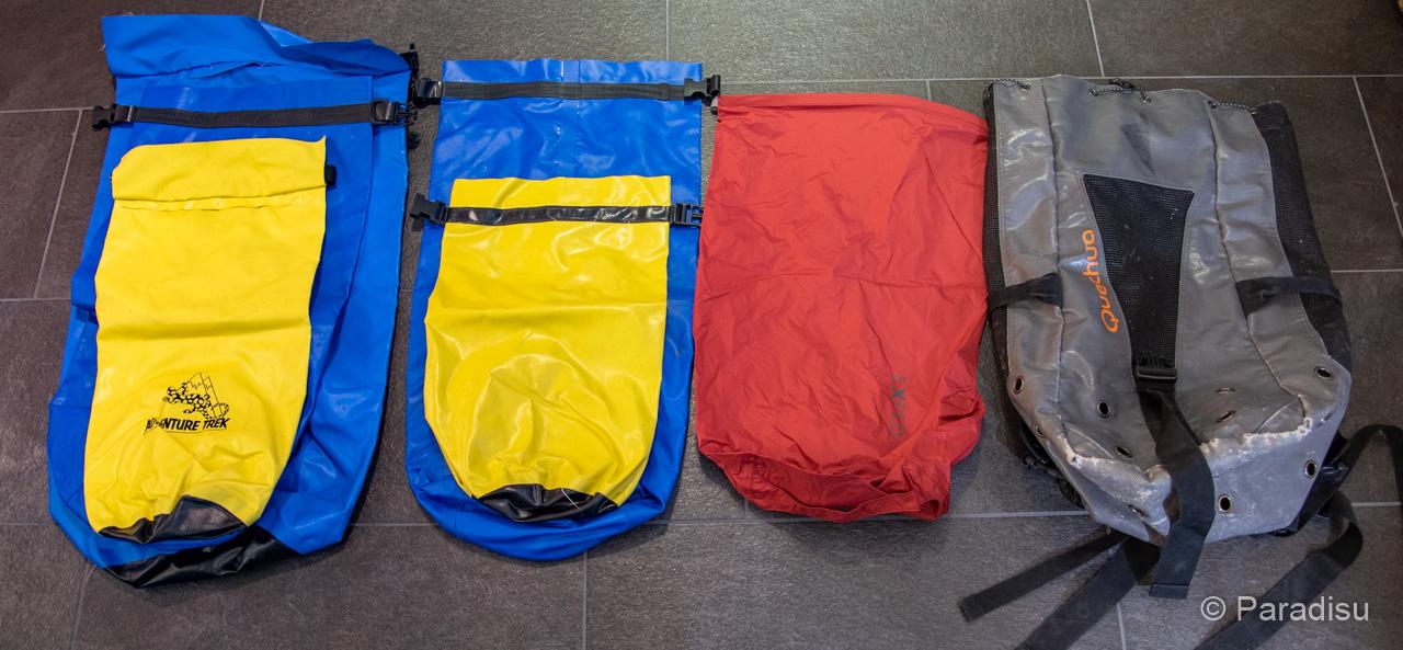 Ausrüstung Flusswandern Wasserdichte Packsäcke Rucksack