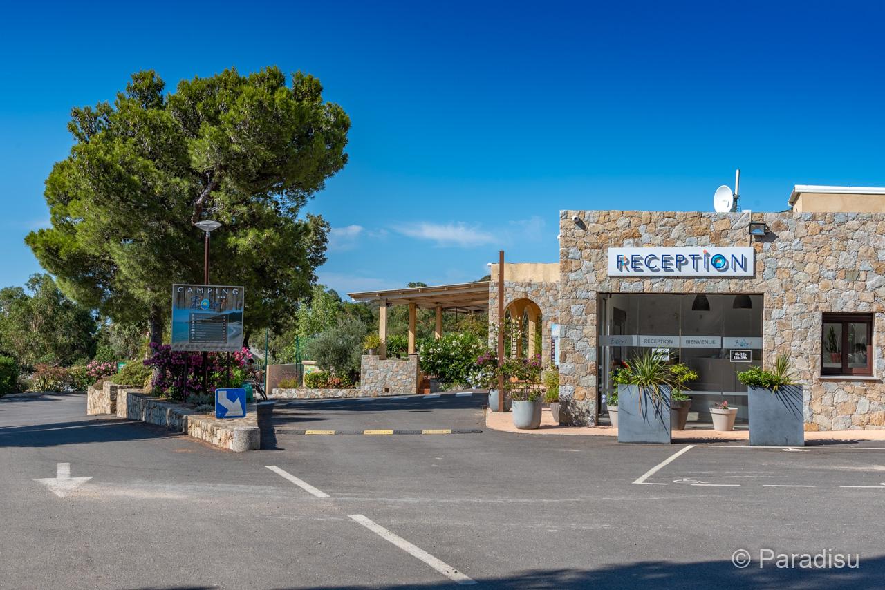 Camping Korsika 10 Rezeption