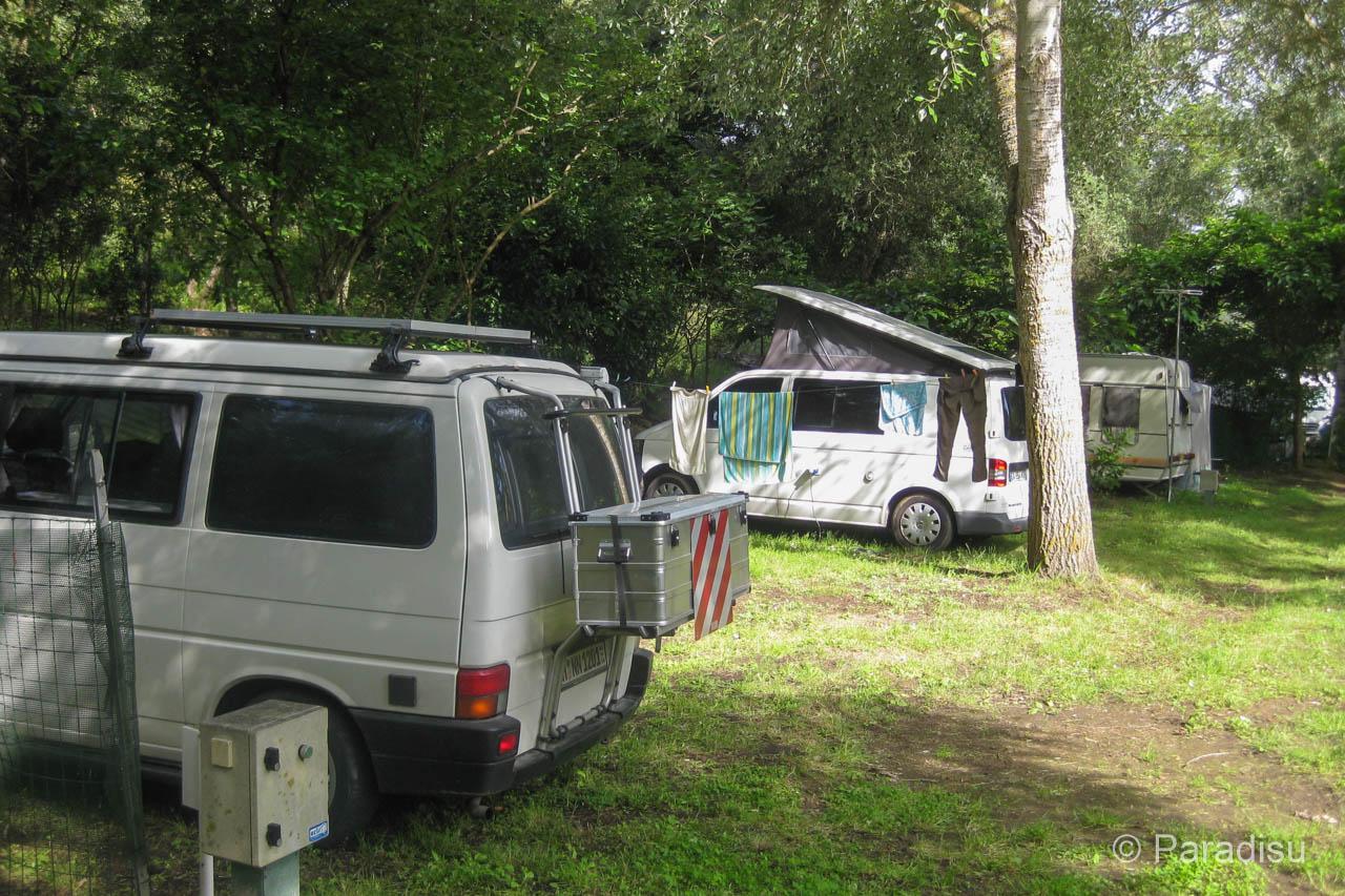 VW-Bus auf KorsikaCamping Peretto Les Roseaux