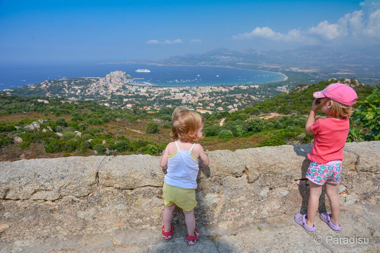 Blick Auf Den Golf Von Calvi