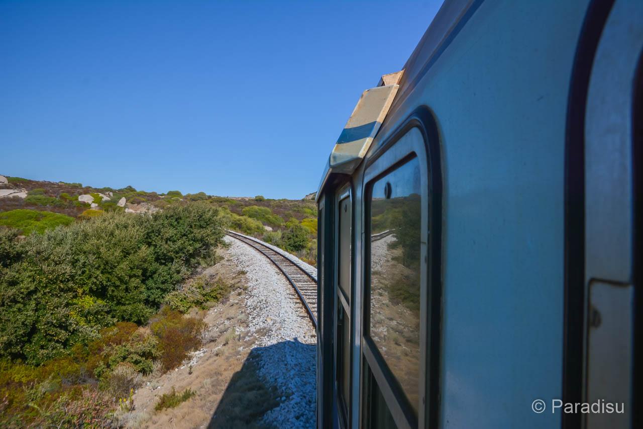 Eisenbahnstrecke Zwischen Calvi Und Ile-Rousse