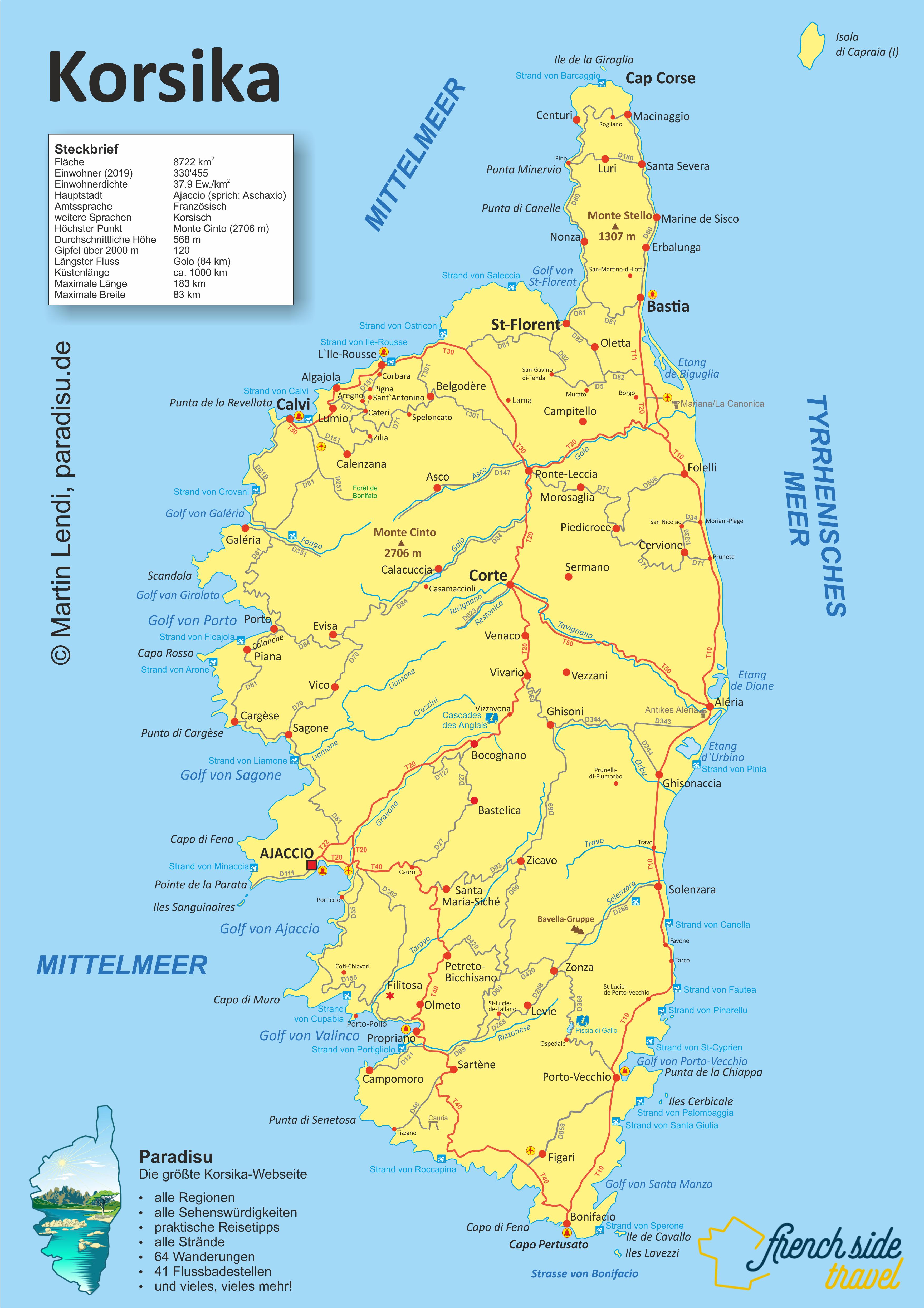 Korsika Karte