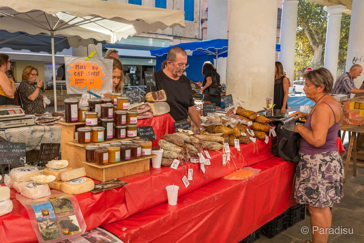 Korsika Markt Einheimische Produkte