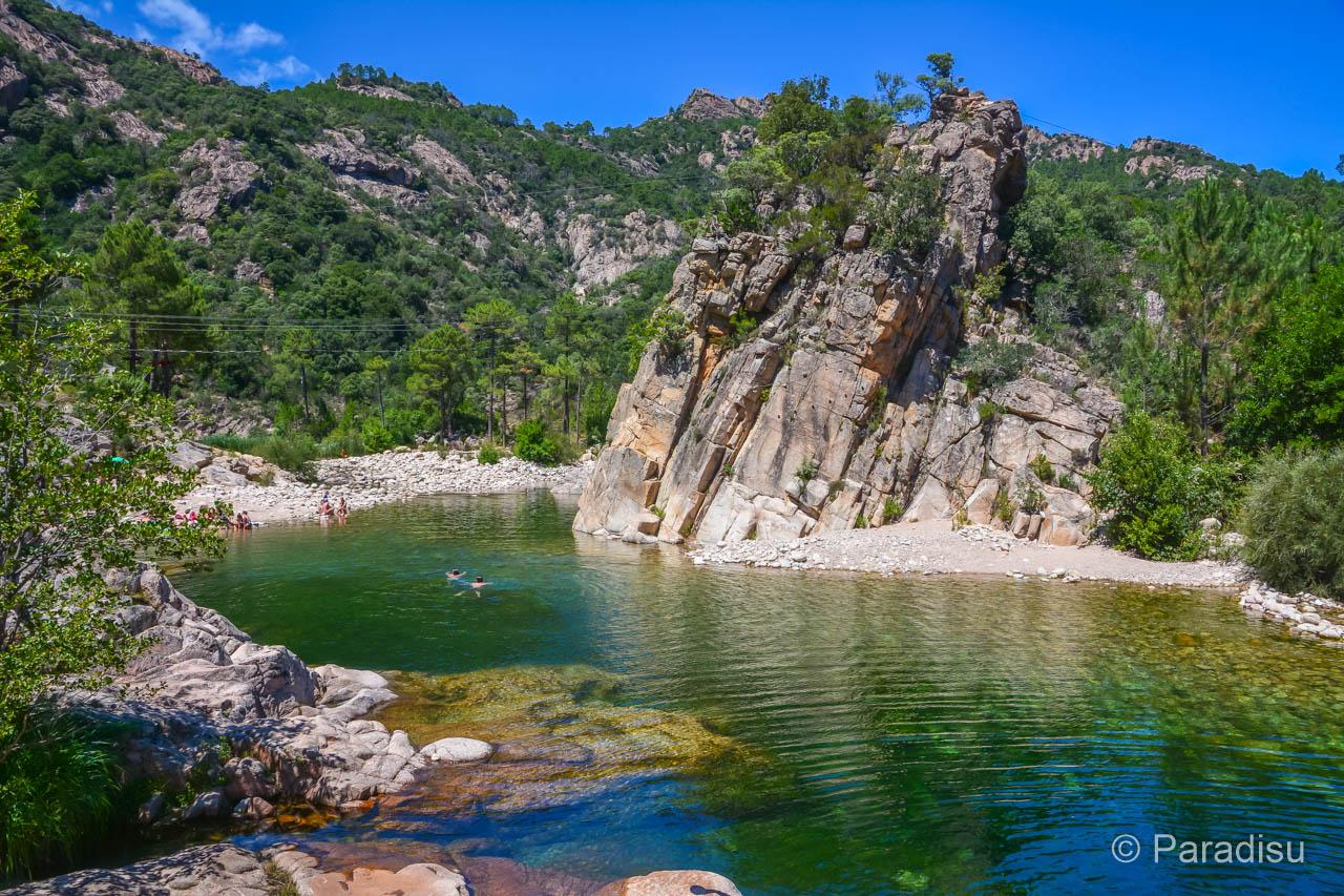 Korsika Rundreise Solenzarafluss