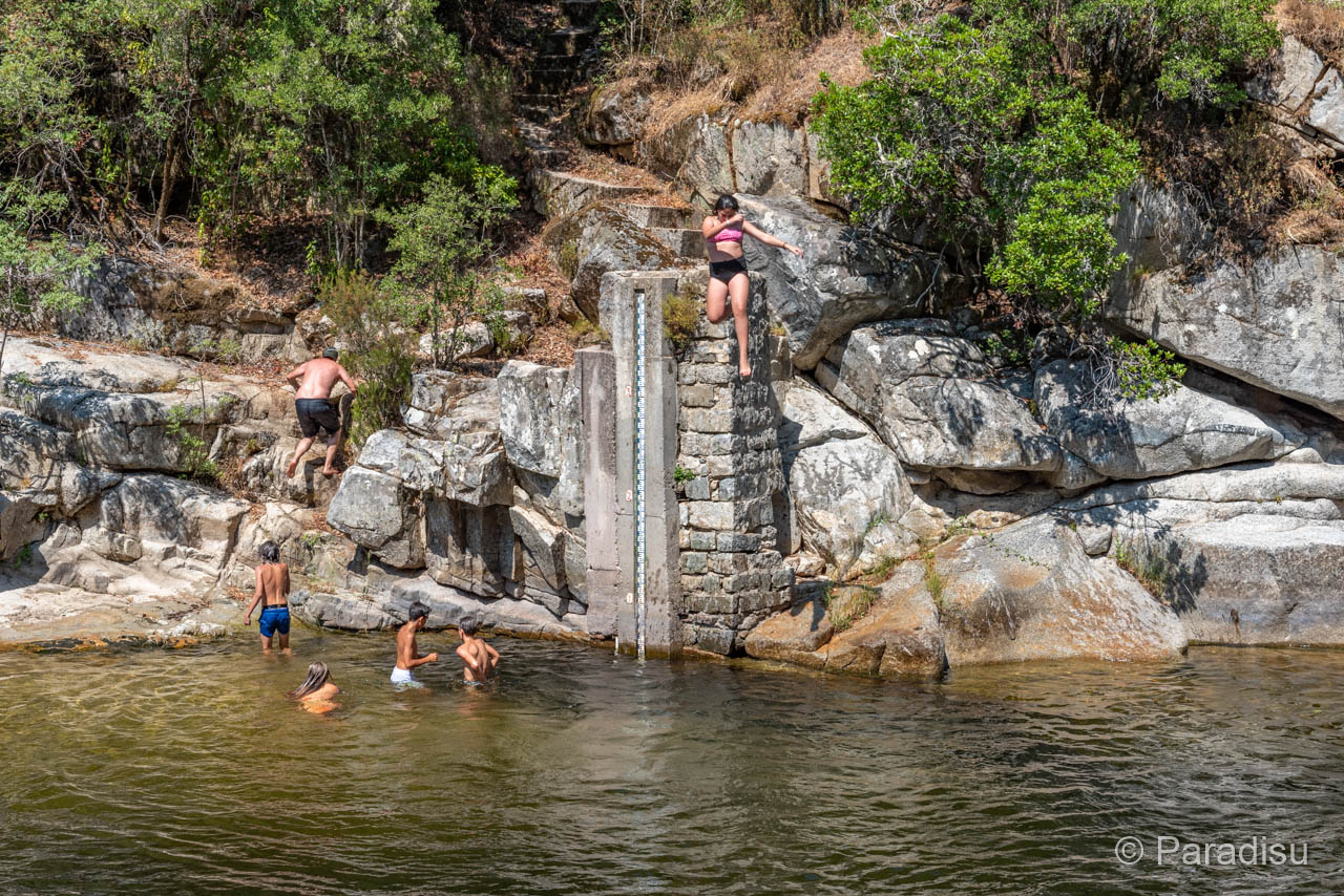 Flussbadestelle Pont D'Abro über Den Tavaro