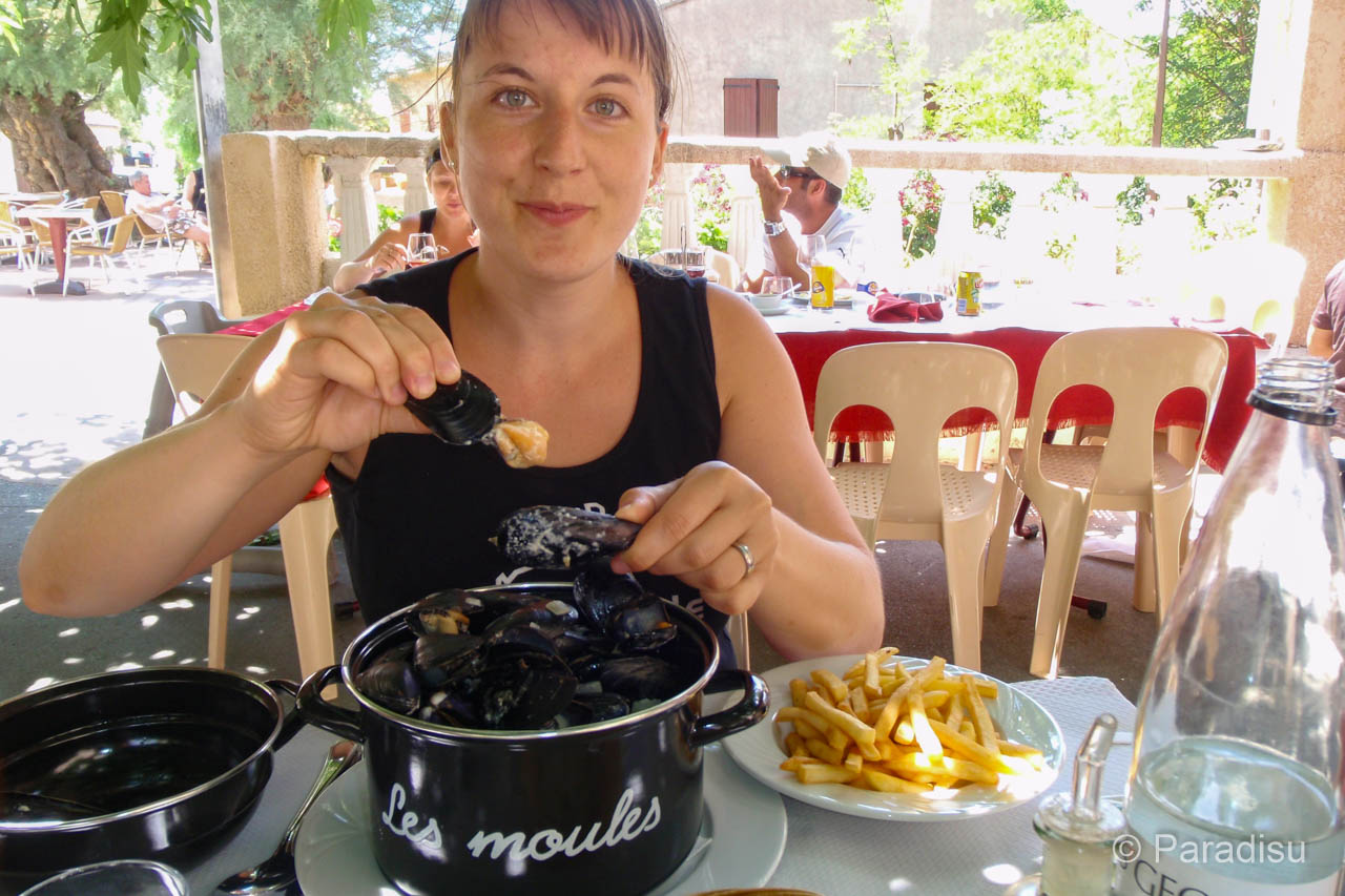 Miesmuscheln - Moules Frites