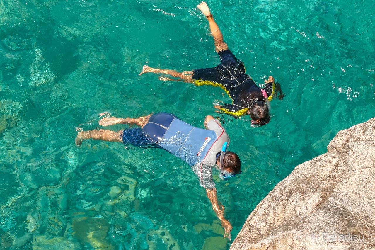 Schnorcheln auf Korsika Ficajola