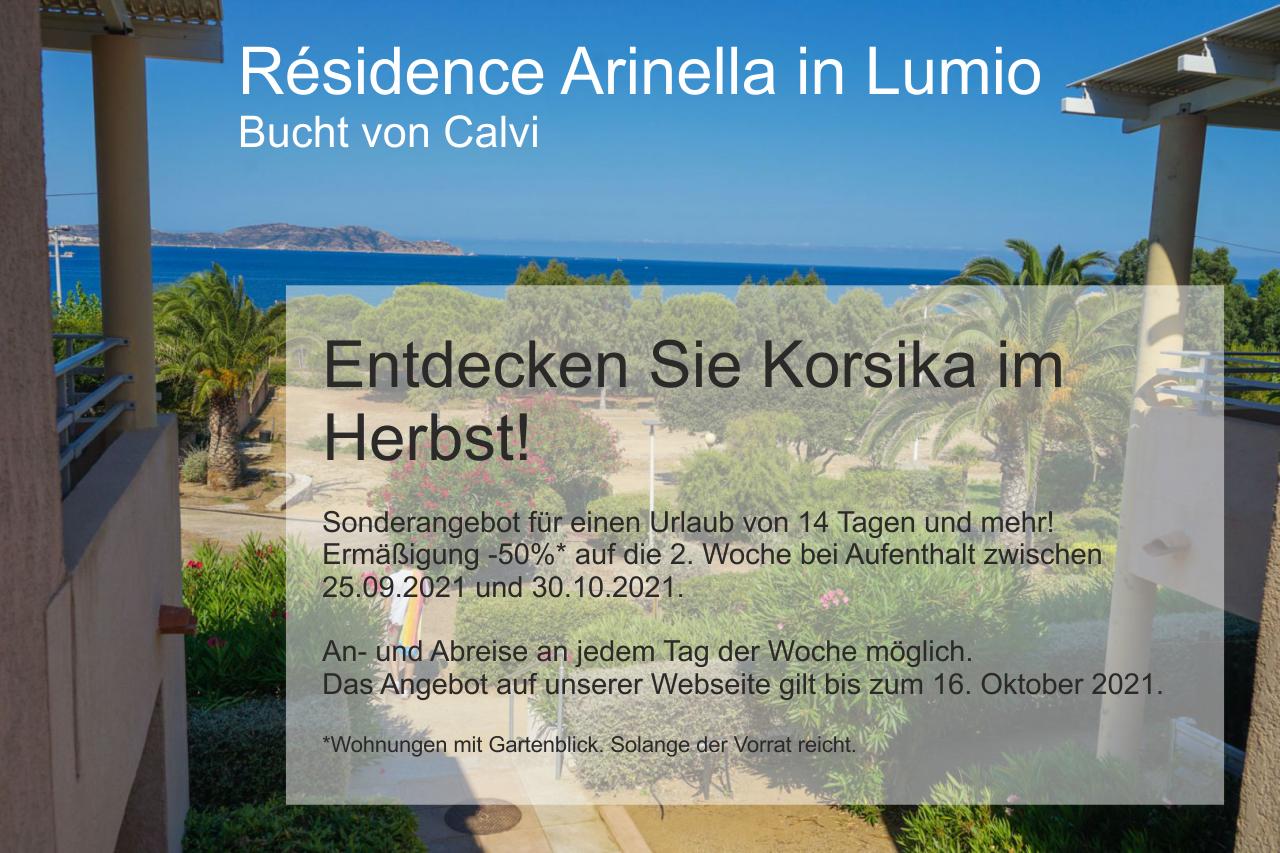 Sonderangebot Residence Arinella Herbst 2021