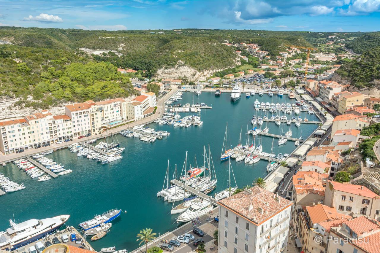 Bonifacio Bastion De L'Etendard Sicht Auf Den Hafen