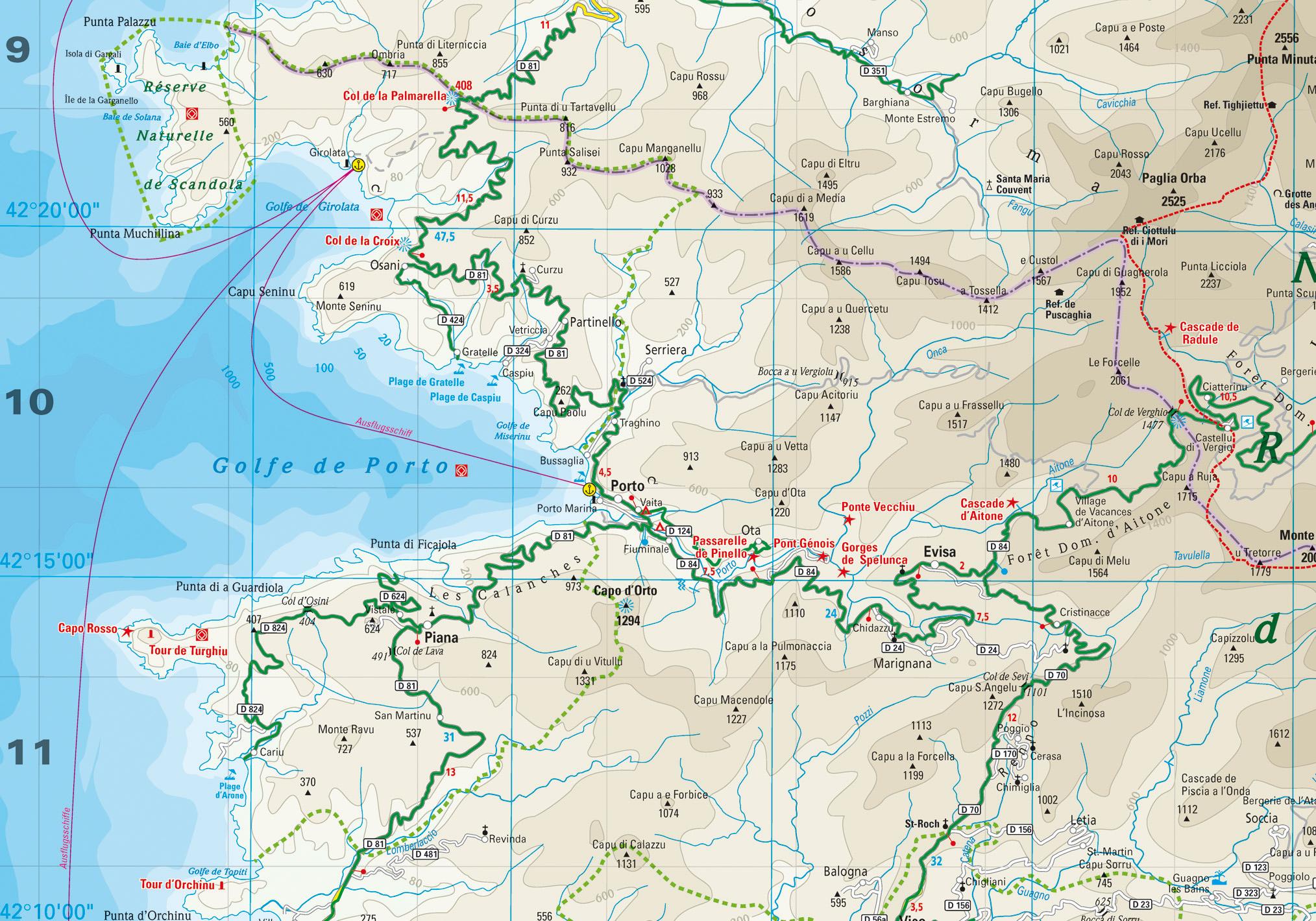 Karte Golf Von Porto