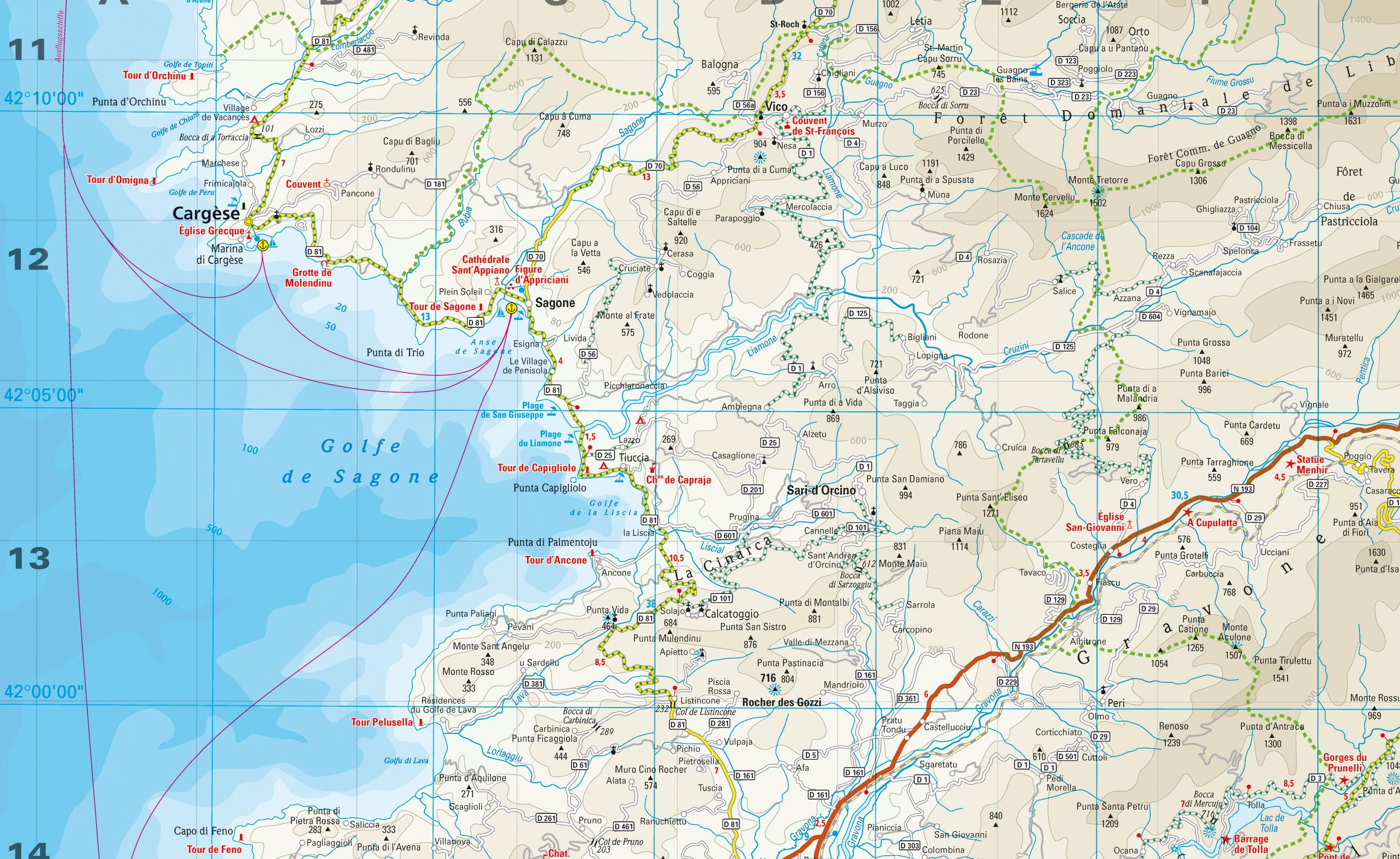 Karte Golf Von Sagone