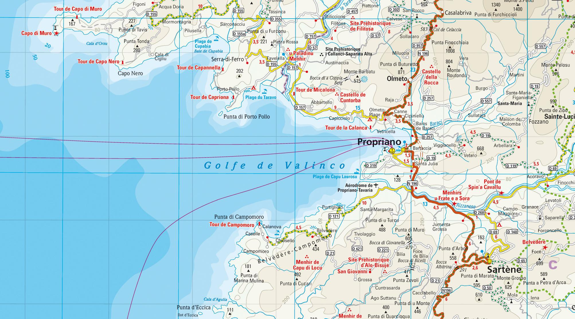 Karte Golf Von Valinco