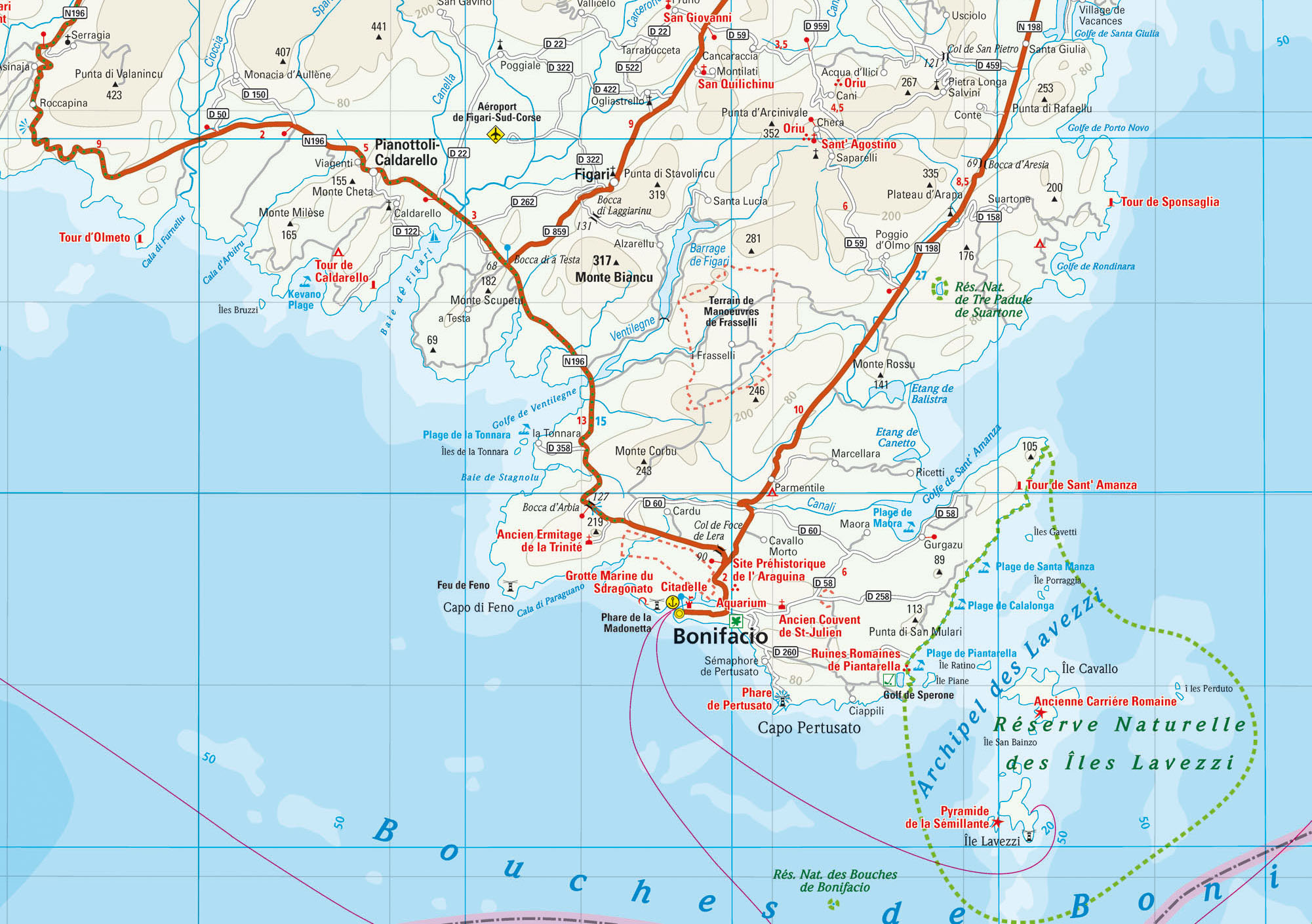 Karte Korsika Süden