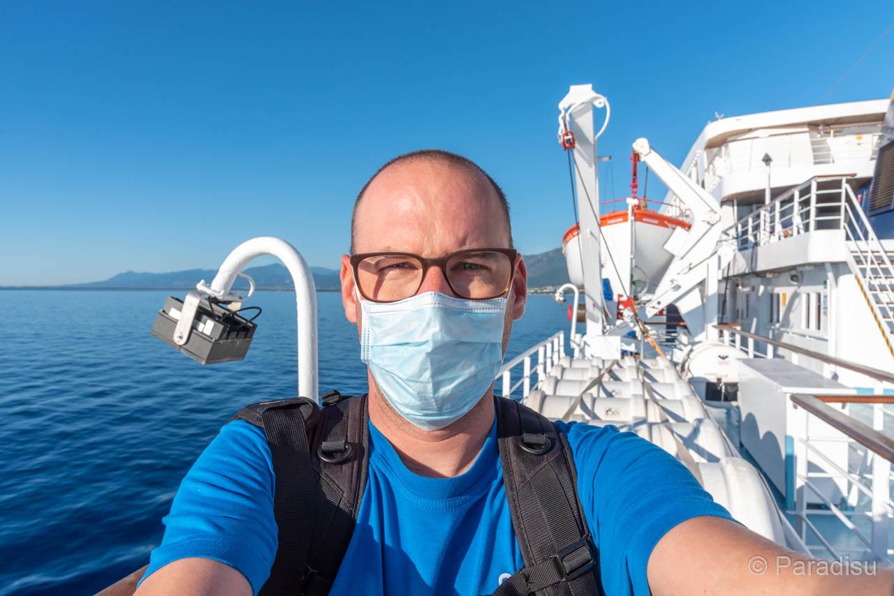 Ich Auf Dem Weg Nach Korsika