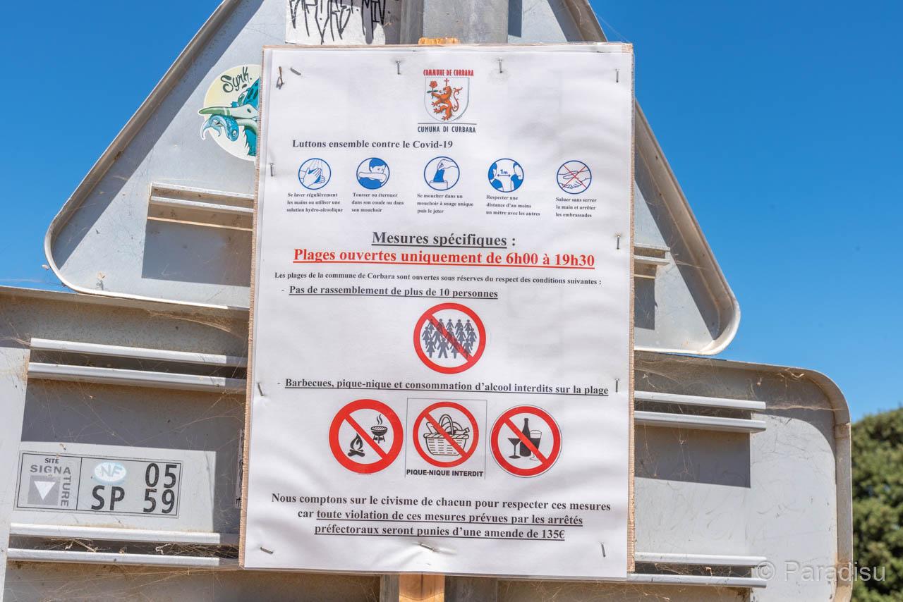 Vorschriften Am Strand Von Bodri