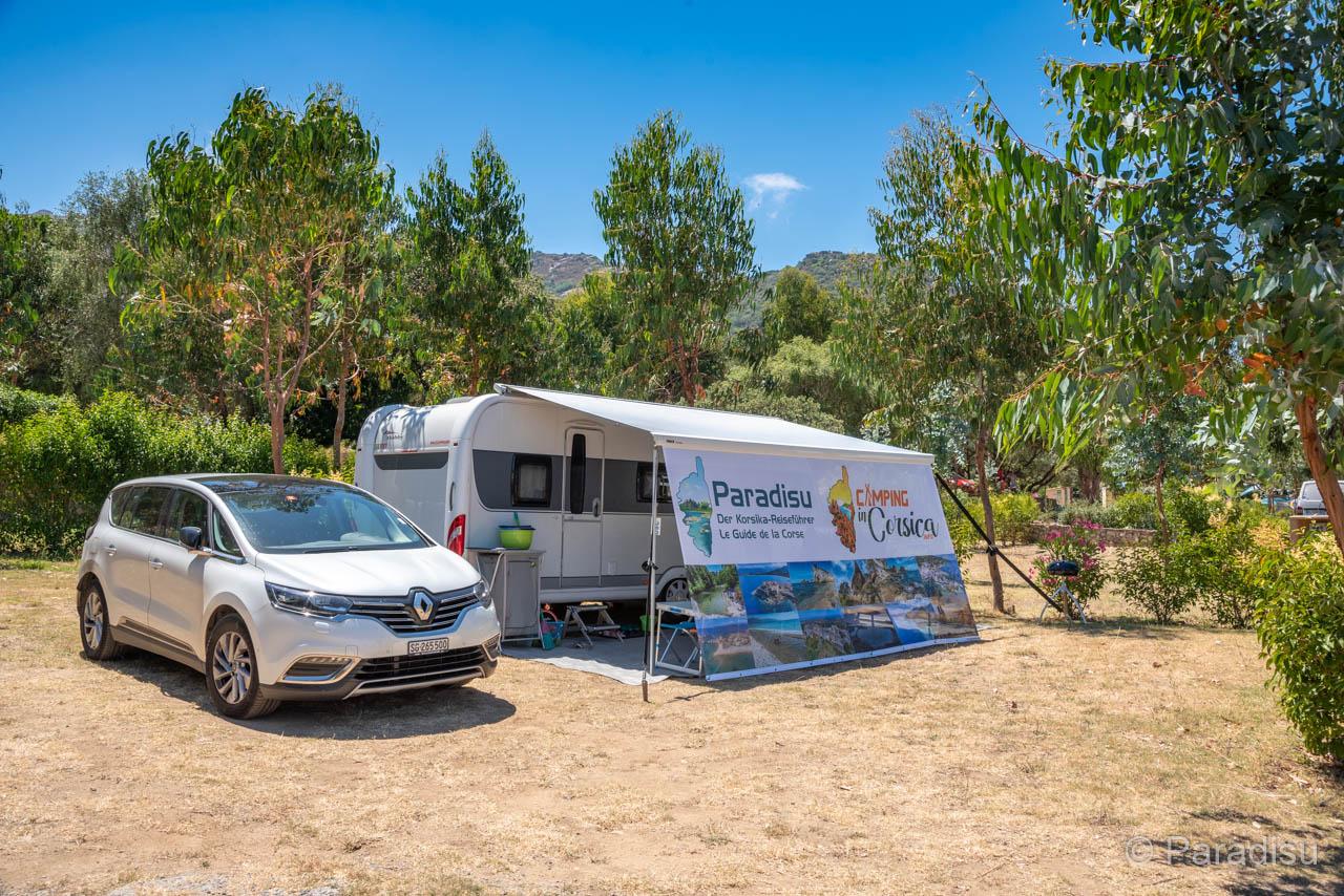 Unser Wohnwagen Auf Dem Camping Le Bodri