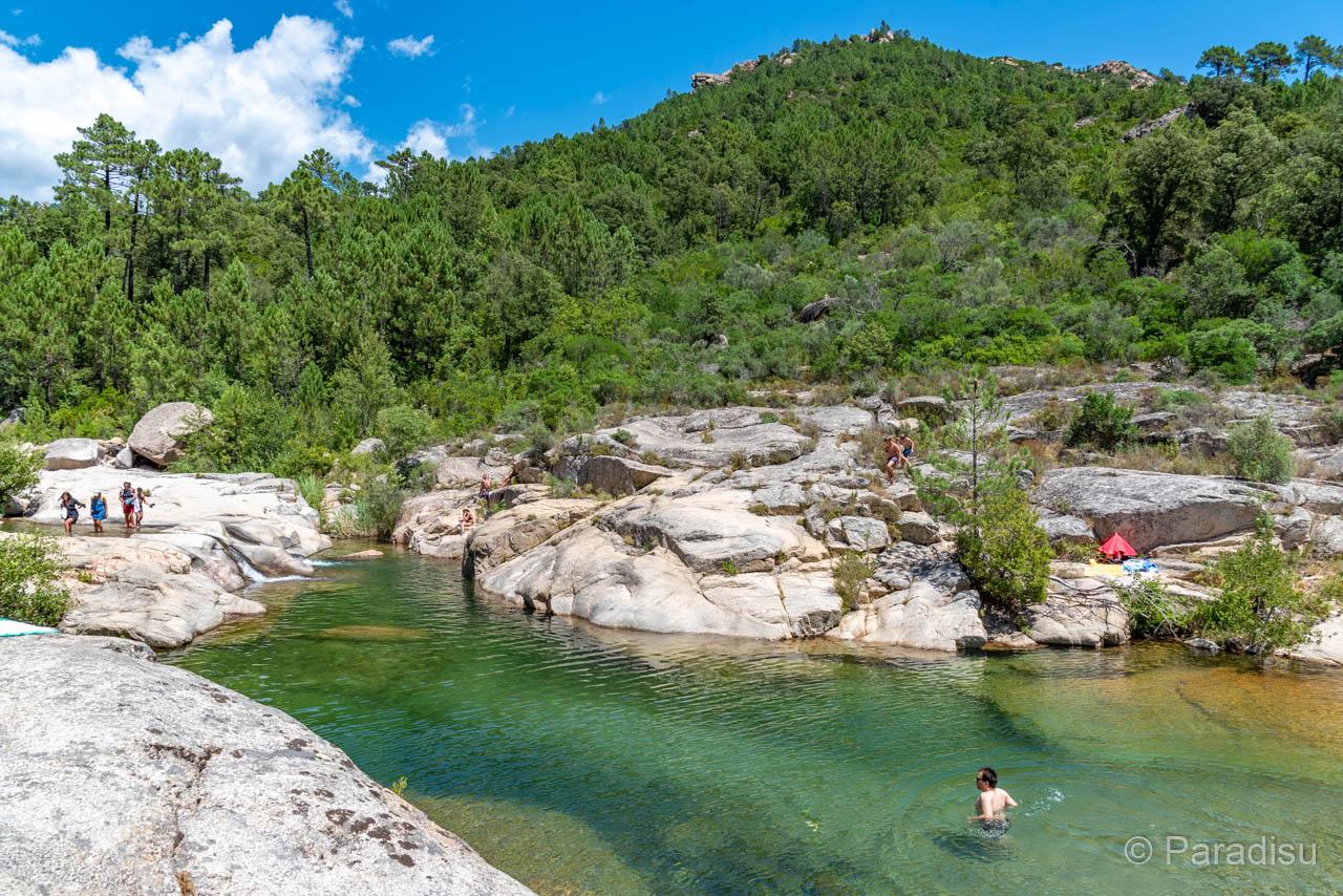 Flussbadestelle Les Trois Piscines Cavo