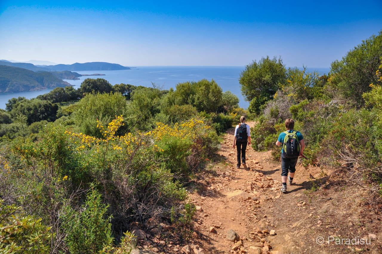 Wanderung Auf Das Capu Rossu